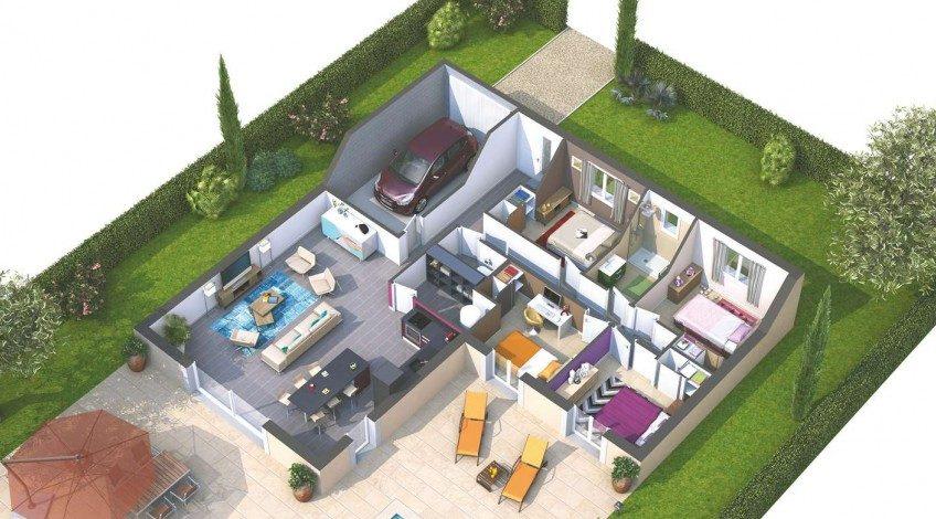 Villa en L sur Saint-Gilles