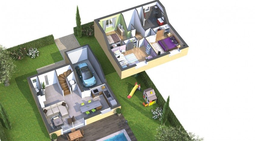 Villa à étage à Bessan