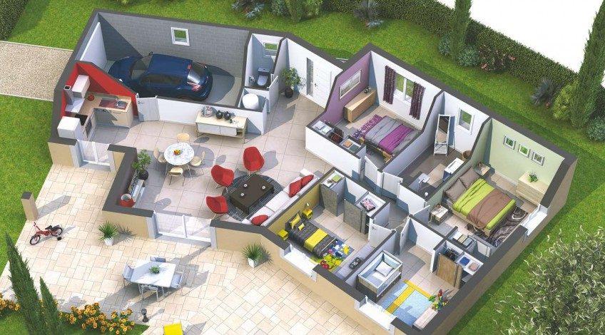 Belle maison en V de 110m²