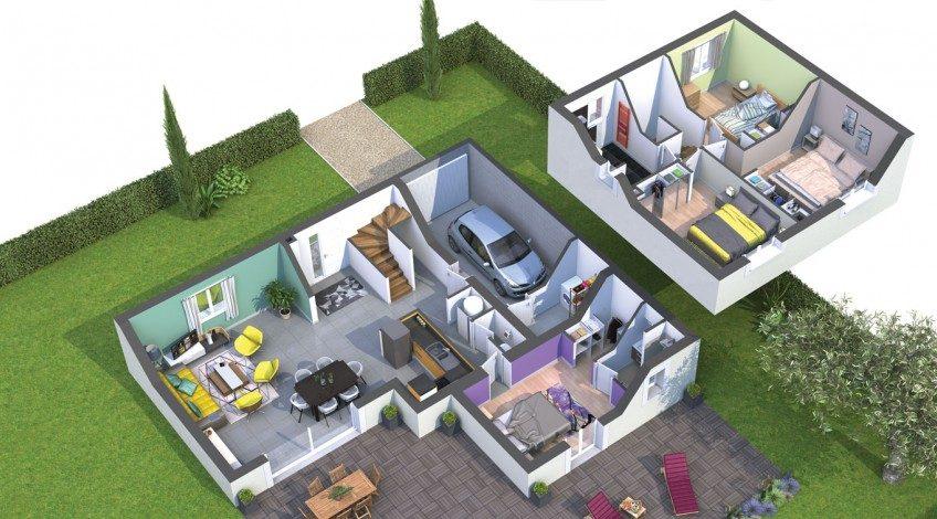 Villa 120 m² traditionnelle semi-étage