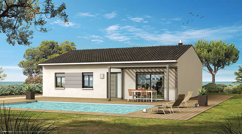 Maison moderne sur Gaujac